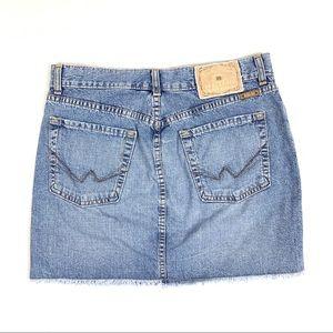 Lucky Brand Raw Hem Jean Skirt Size 6 / 28